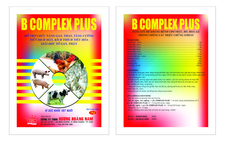 Dinh dưỡng gia súc BCOMPLEX PLUS
