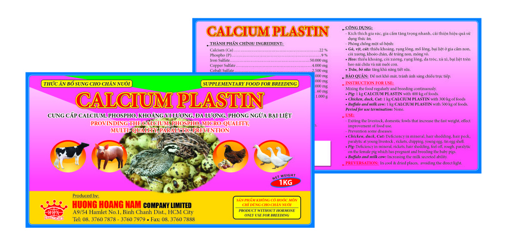 Dinh dưỡng gia súc CALCIUM PLASTIN