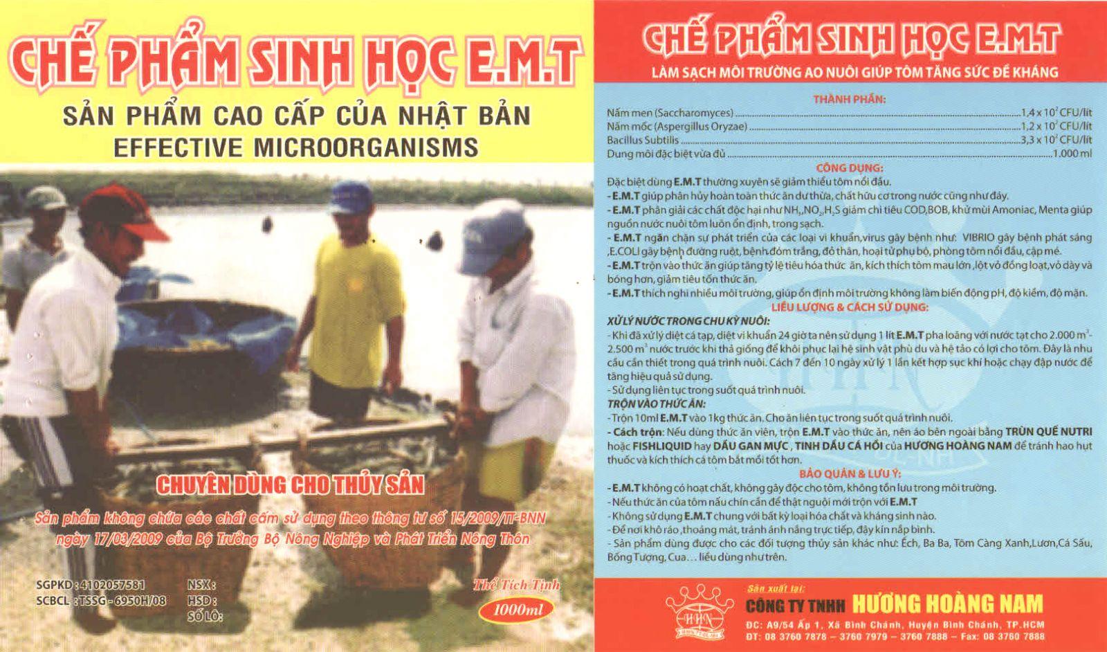 THUỐC THỦY SẢN - CHẾ PHẨM SINH HỌC EMT