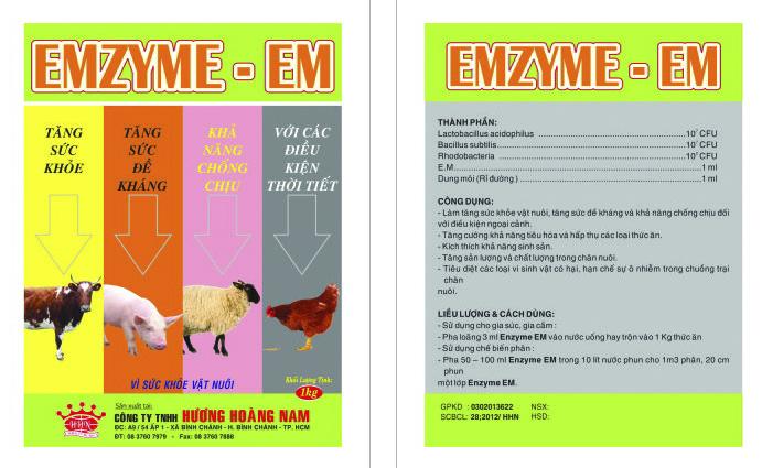 Dinh dưỡng gia súc ENZYME - EM