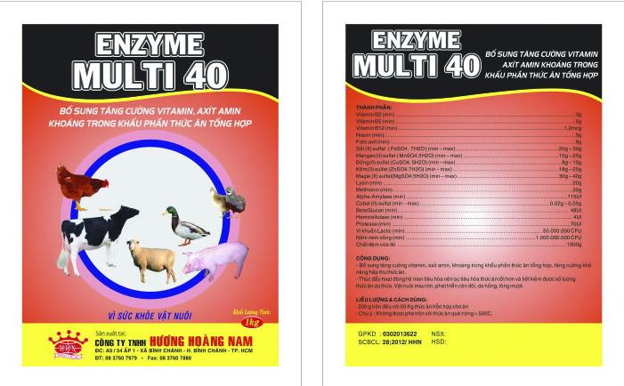 Dinh dưỡng gia súc ENZYM – MULTI 40