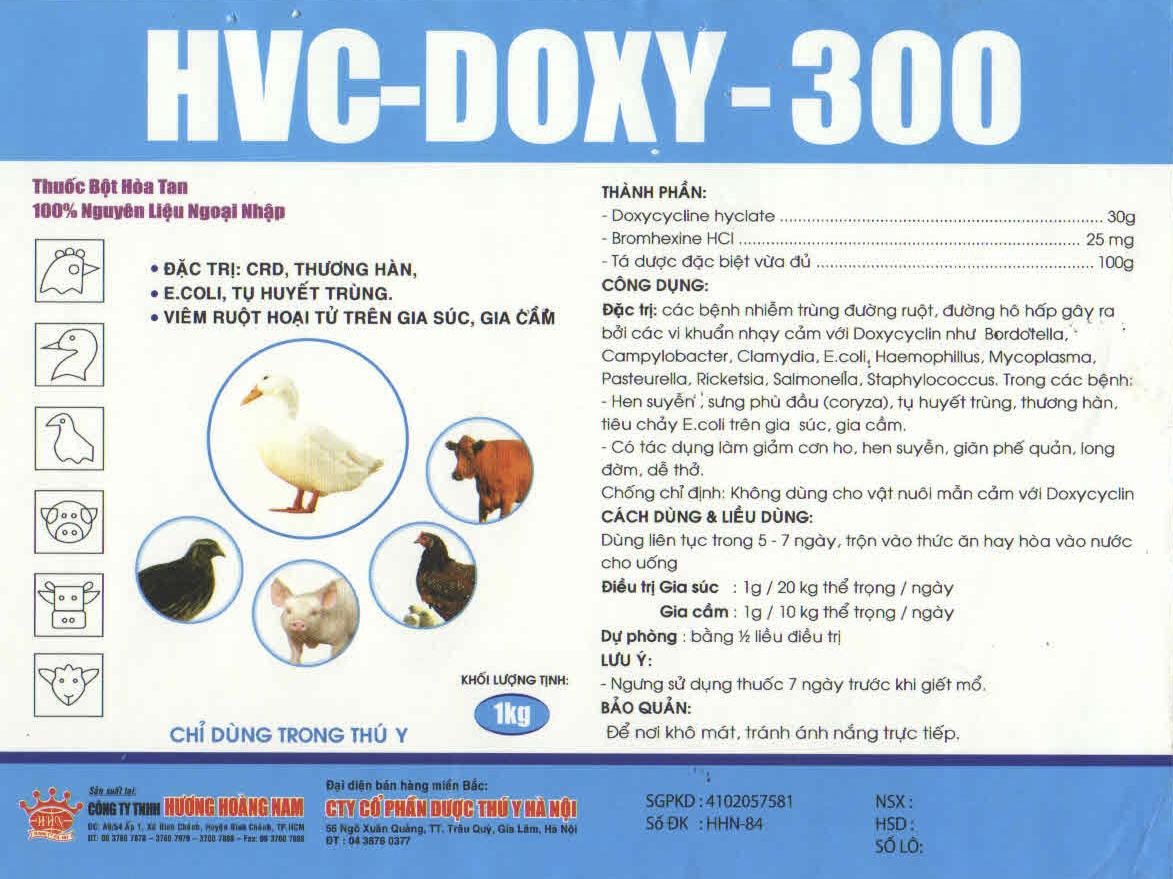 THUỐC THÚ Y HCV - Doxy 300