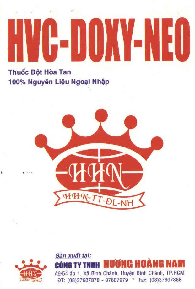THUỐC THÚ Y HCV - Doxy neo