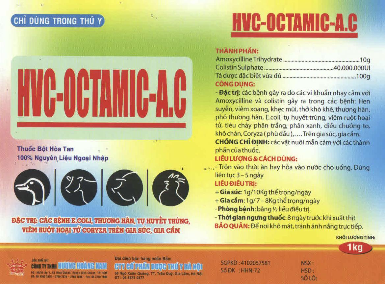 THUỐC THÚ Y HCV - Octamic - A.C