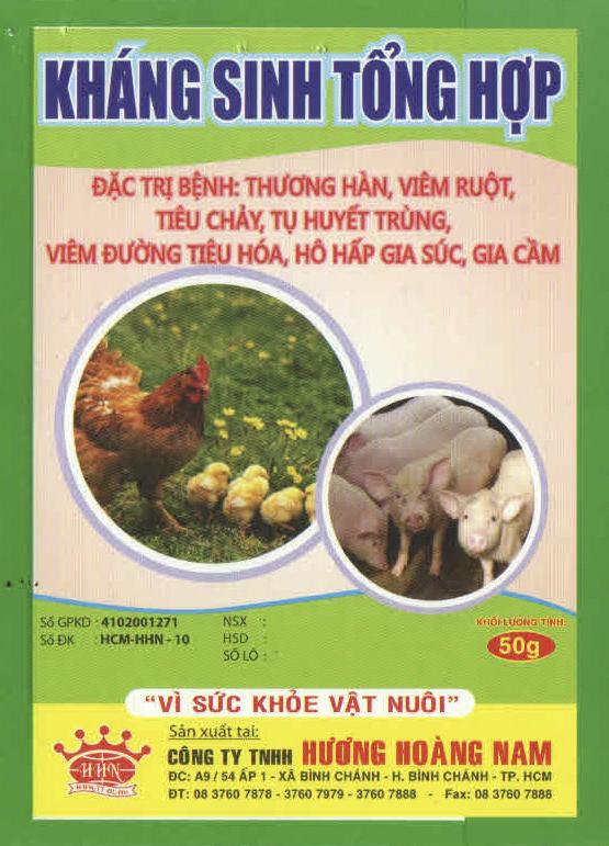 THUỐC THÚ Y - KHÁNG SINH TỔNG HỢP