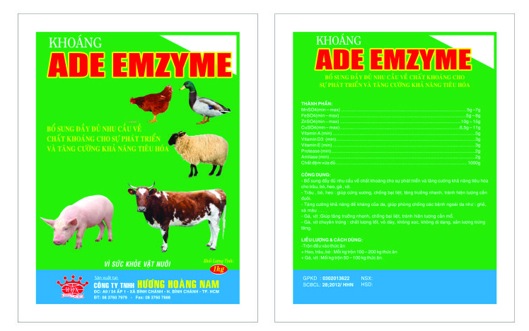 Dinh dưỡng gia súc KHOÁNG ADE - ENZYME