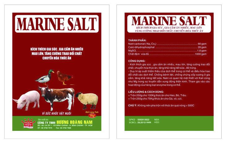 Dinh dưỡng gia súc MARINE SALT