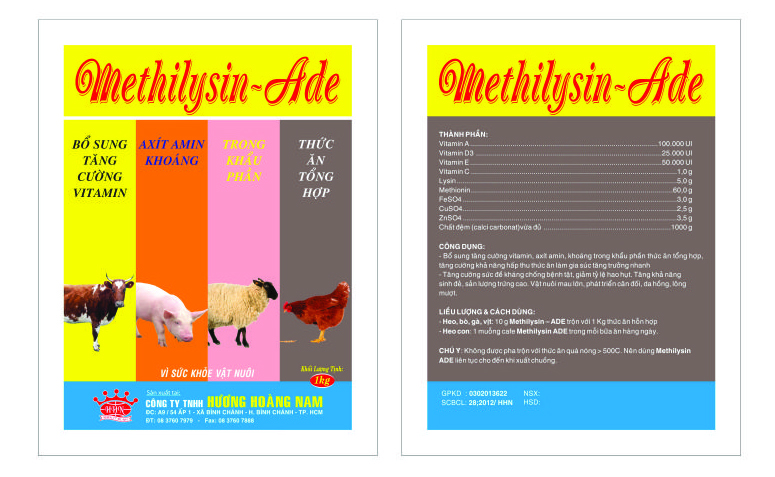 Dinh dưỡng gia súc METHILYSIN - ADE