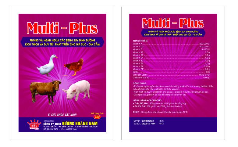 Dinh dưỡng gia súc MULTI - PLUS
