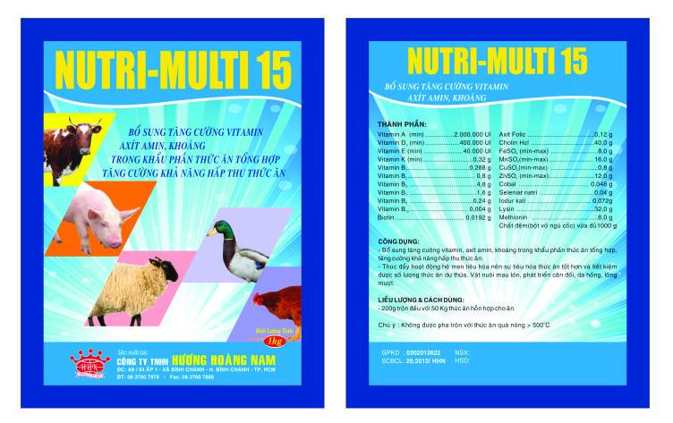 Dinh dưỡng gia súc NUTRI – MULTI 15