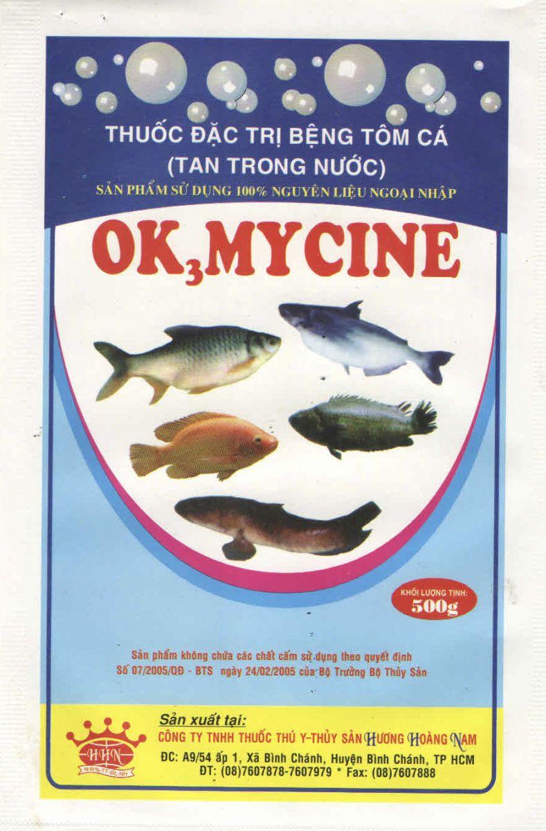 XỬ LÝ MÔI TRƯỜNG THỦY SẢN Ok3 Mycine