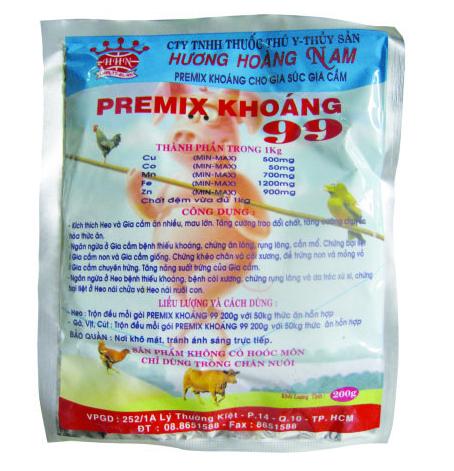 Dinh dưỡng gia súc PREMIX KHOÁNG 99