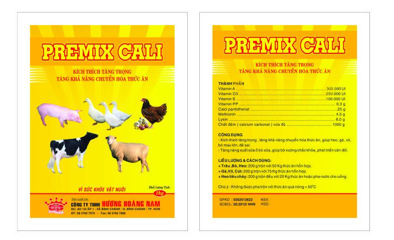 Dinh dưỡng gia súc PREMIX CALCI