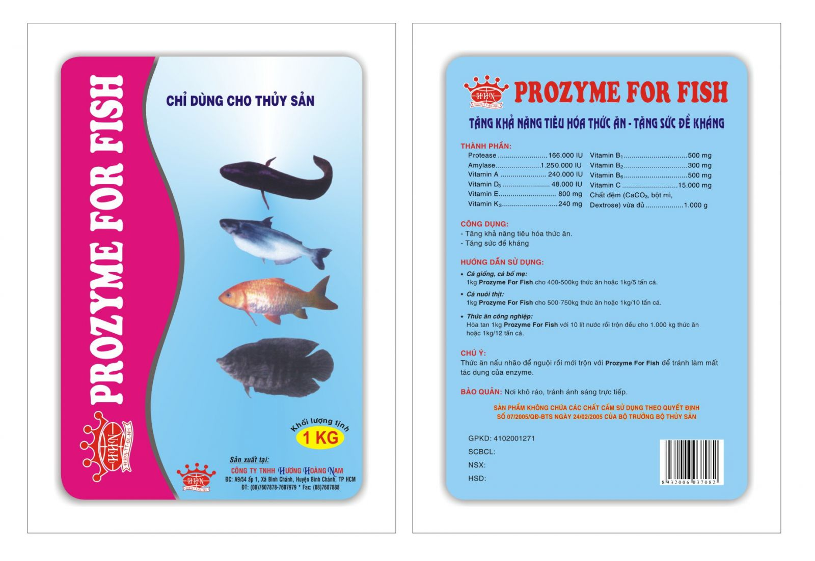 Dinh dưỡng thủy sản HHN Prozyme for fish