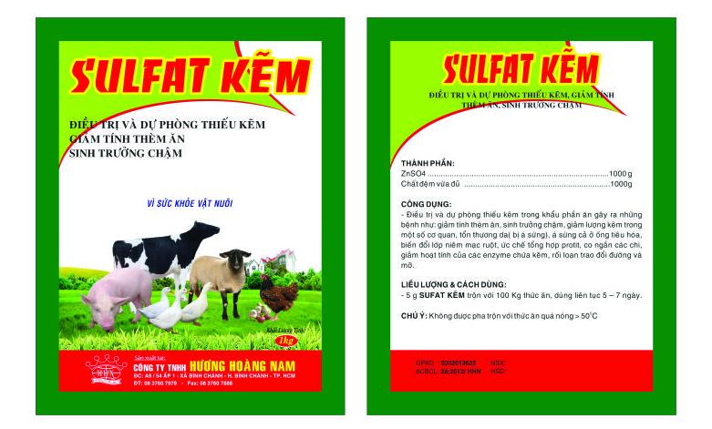 Dinh dưỡng gia súc SULFAT KẼM