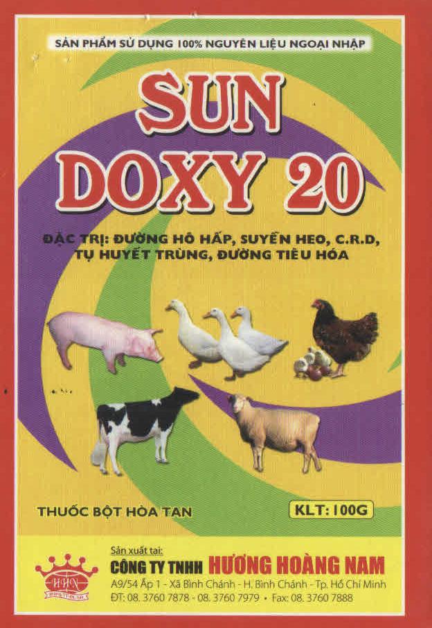 THUỐC THÚ Y - Sun Doxy 20