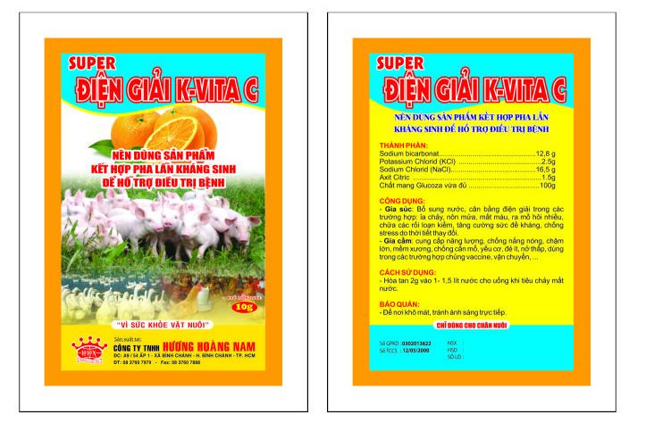 Dinh dưỡng gia súc SUPER ĐIỆN GIẢI K - VITA C