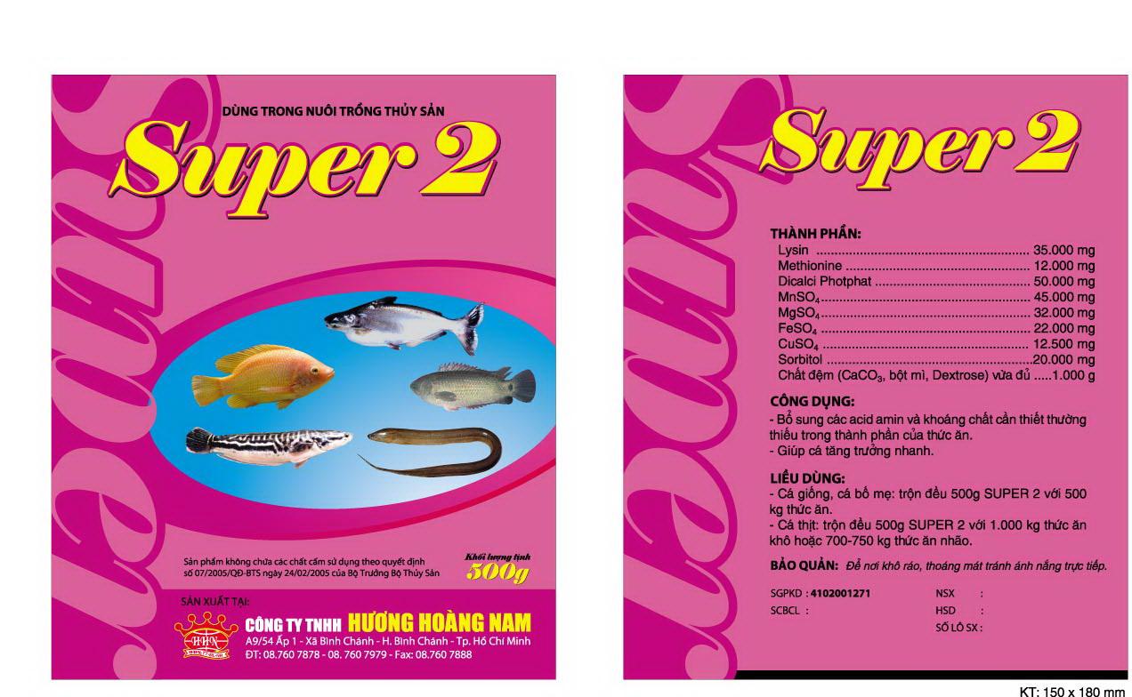 Dinh dưỡng thủy sản Super 2
