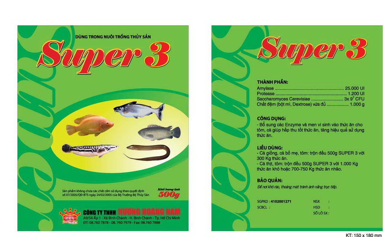 Dinh dưỡng thủy sản Super 3