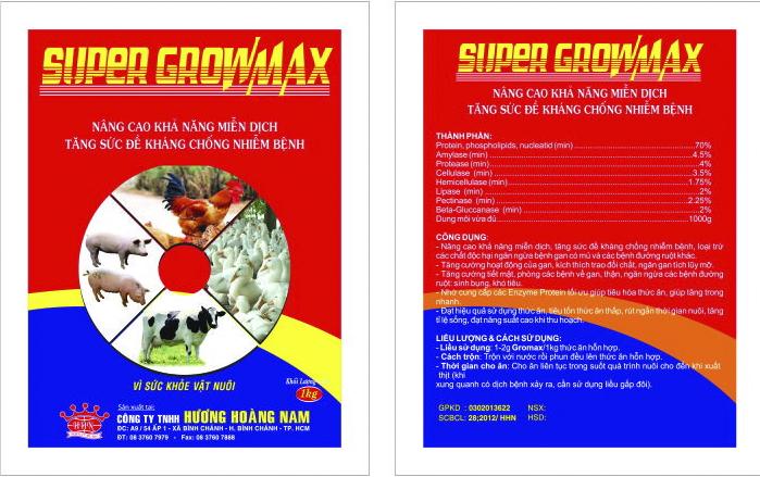 Dinh dưỡng gia súc SUPERGROWMAX
