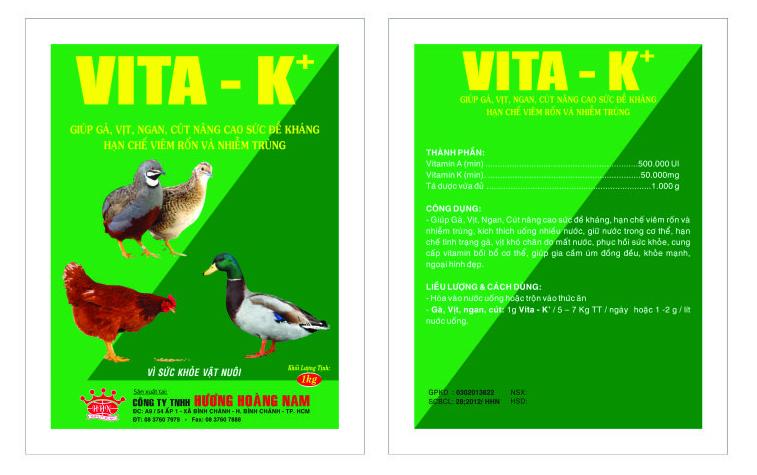 Dinh dưỡng gia súc VITA- K+