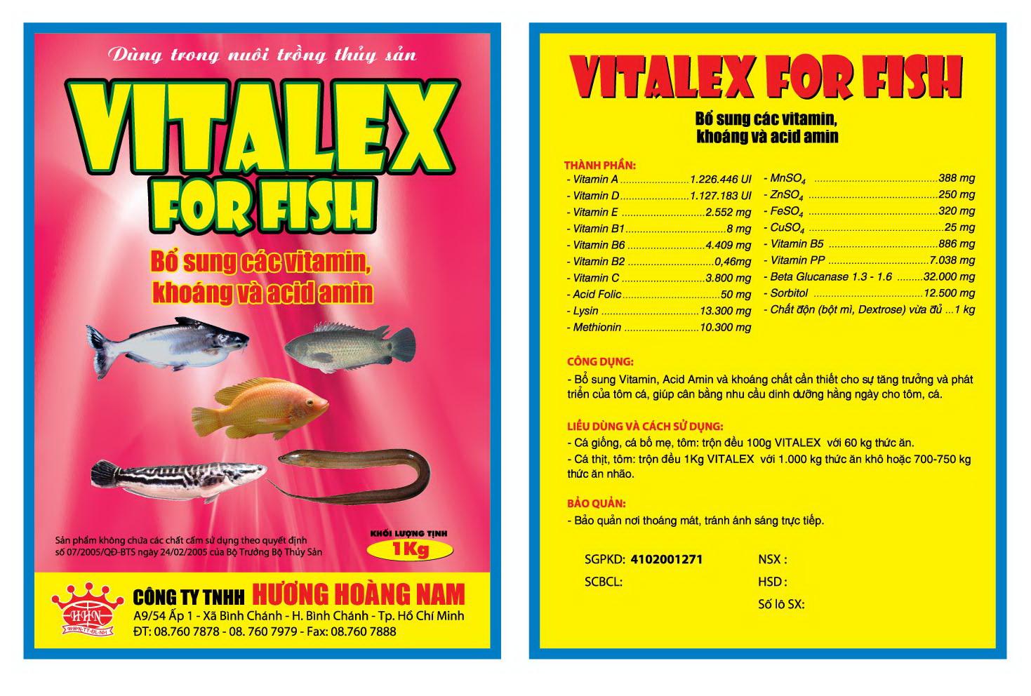 Dinh dưỡng thủy sản Vitalex