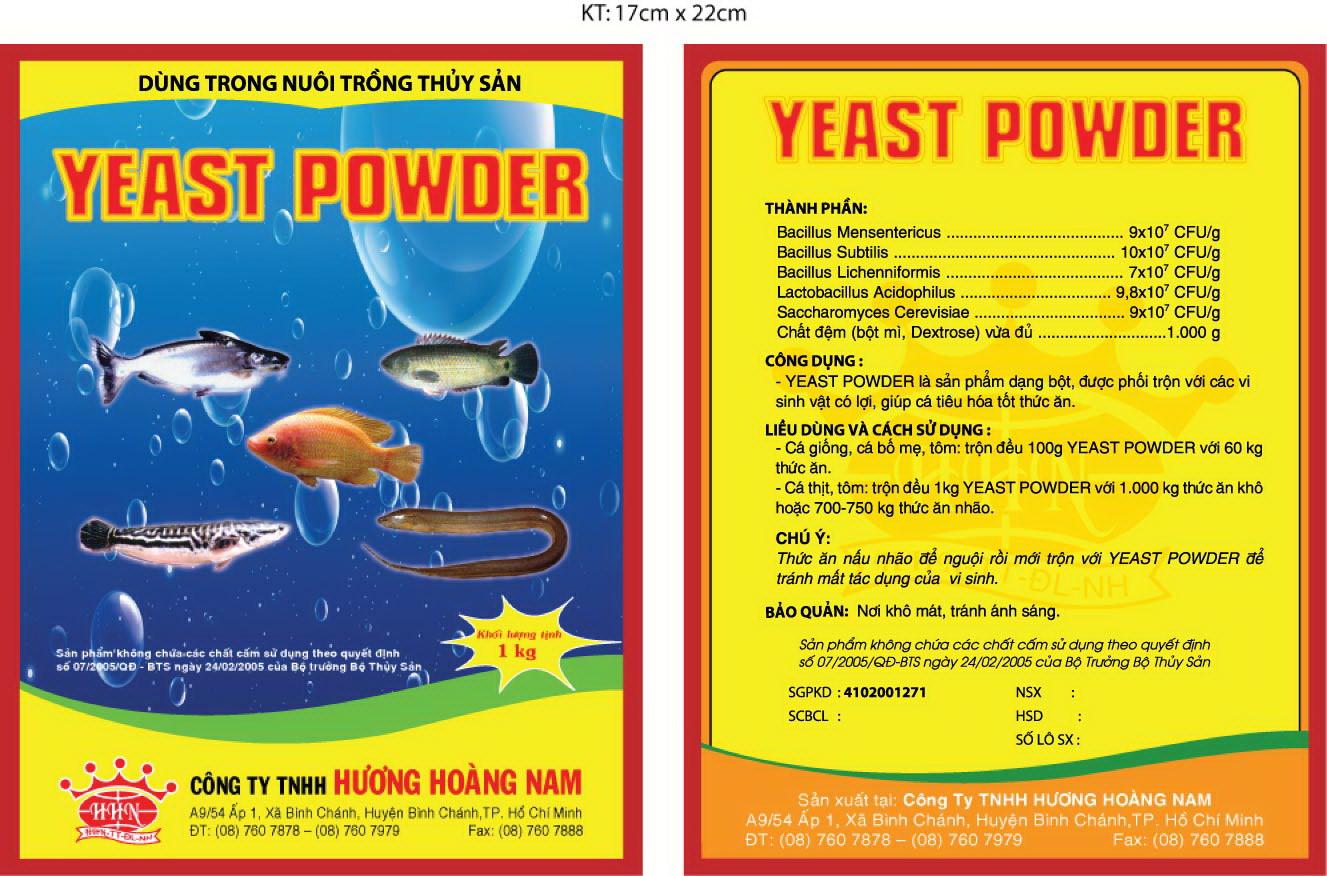 Dinh dưỡng thủy sản Yeast Power