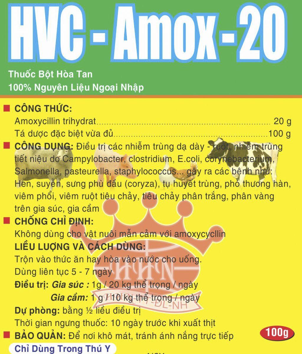 Thuốc thú y HCV - Amox 20